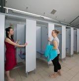 toilet block at Tencreek Holiday Park