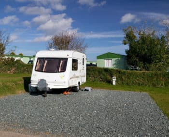 A seasonal touring pitch at our Cornwall holiday park