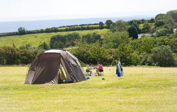 Our Cornwall campsite