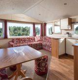 Suncrest caravan lounge and kitchen