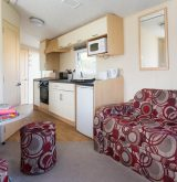 Sunset caravan kitchen