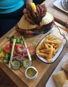 Crab dish at The Wheelhouse Seafood Restaurant and Guesthouse, Mevaissey