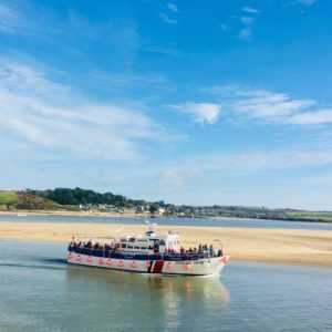 Jubilee Boat on the sea in Padstow