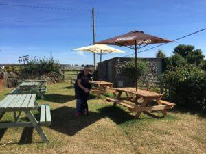 Sun garden with benches