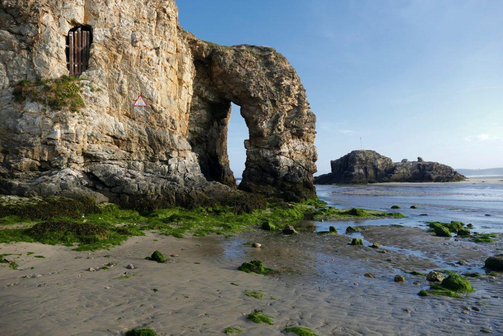 perranporth arch rock
