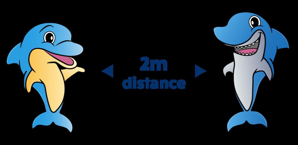 Practice 2m distance on park