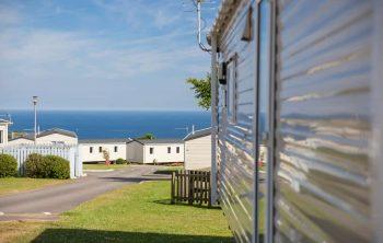 View from Tencreek caravan